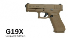 Glock 19X Coyote   9X19 Silencer Thread M13.5 left