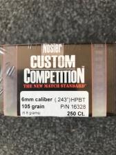 P 6MM 105GR NOSLER CUSTOM COMPETITION (250)