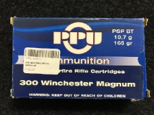 300 WIN MAG  165GR SP PPU