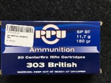 303 PRITISH 180GR SP PPU