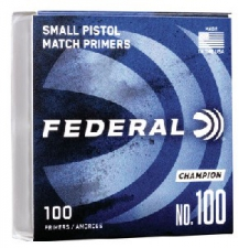 FEDERAL PRIMERS 100 SMALL PISTOL 100