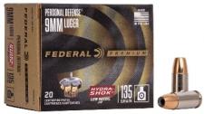 9x19 124 gr Hydra Shok JHP Federal